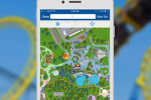 Worlds of Fun Mobile App Park Map